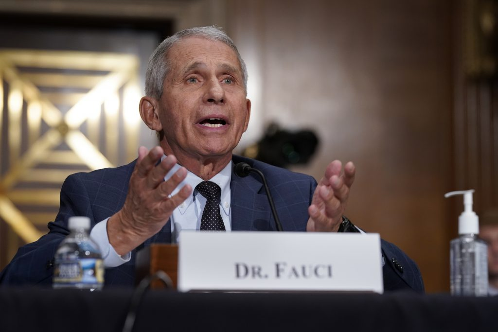 fauci cdc masks vaccinated