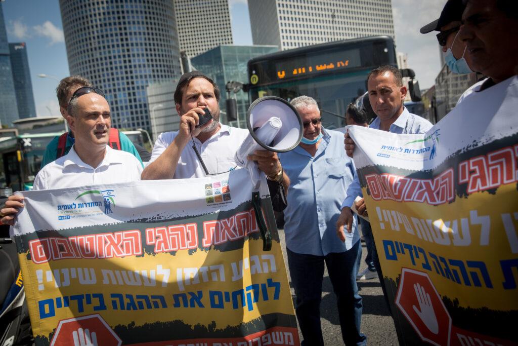 israeli bus drivers protest